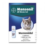 Mansonil All Worm Kat | 2 tabletten