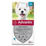 Advantix 100/500 | Hond 4-10 kg | 6 pipetten