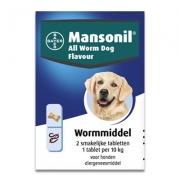 Mansonil All Worm Chien Aromatisé | 2 tablettes