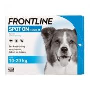 Frontline Spot-on Hond M | 10-20 kg | 4 pipetten